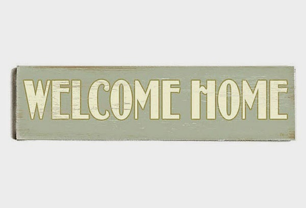 Welcome home wood sign one kings lane