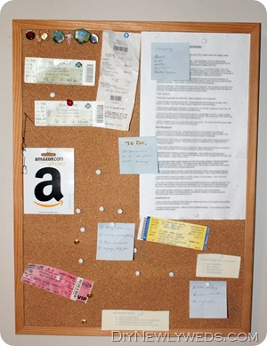 corkboard makeover