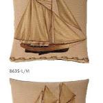 Poduszki gobelinowe o tematyce marynarskiej, statki