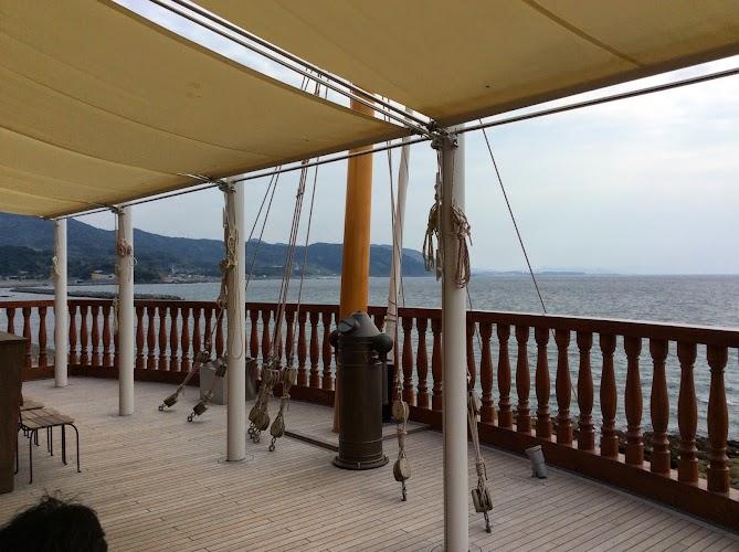 機帆船デッキ