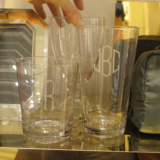 These personalized glasses really caught my eye. Sturdy-looking but light and durable.