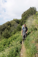 Gerrod walking from Monterosso to Vernazza