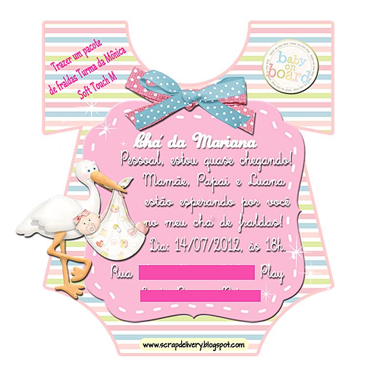 Convite cha Mariana - M - blog