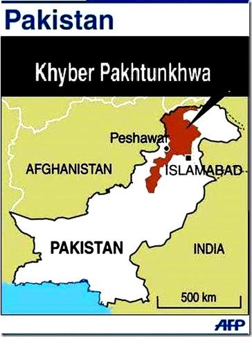 Khyber-Pakhtunkhwa - Pakistan map