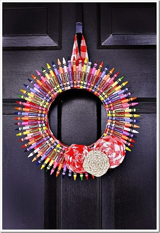 wreath crayons
