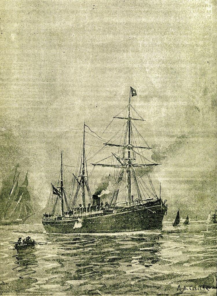 El vapor correo BUENOS AIRES. Revista de Navegación y Comercio. Año 1891.JPG