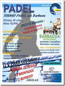 viernes 12 de octubre a las 11:00 horas en el Club Coimbra Pádel de Móstoles.