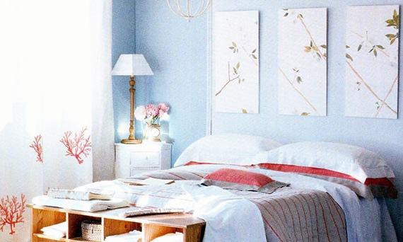 C mo colocar cuadros en una habitaci n 10 consejos y t cnicas idecorar - Cuadros encima cabecero cama ...