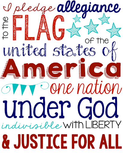 graphic regarding Pledge of Allegiance Printable referred to as Ginger Snap Crafts: Joyful 4th of July ~ Pledge of Allegiance