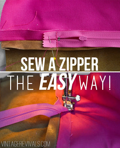 The easiest way to sew a zipper into a pillow! No skills required! & DIY Leather Pillow Tutorial \u0026 How To Sew A Zippered Pillow Cover ... pillowsntoast.com
