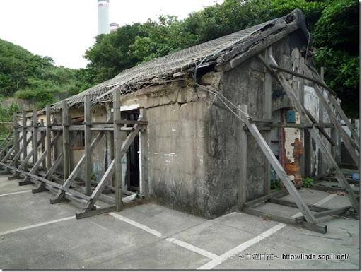 白米甕砲台外的舊房子