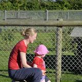 """Camping pladsen havde også en hyggelig """"zoo"""" med kaniner, geder og heste. Meget populært!"""