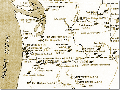 Civil War era military outposts in the Pacific Northwest