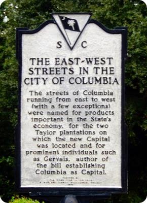 Columbia street signs