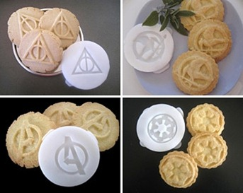Geeky Cookie Cutters by totalum on Etsy