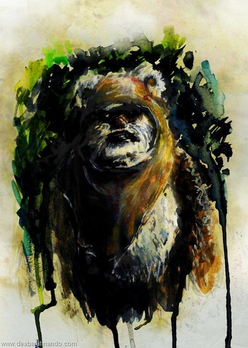 pinturas star wars aquarela desbaratinando  (3)