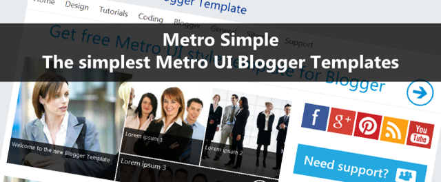 Metro Simple – The simplest Metro UI Blogger Templates