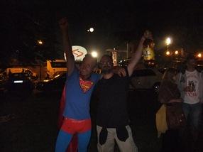 con Superman en Guča