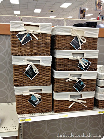 pretty storage bins