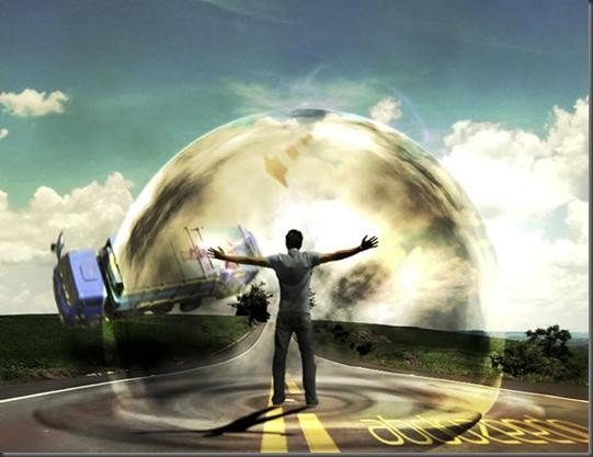 Hasil Efek Perisai Udara Dengan Photoshop
