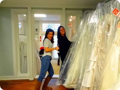 Kelly dress shopping