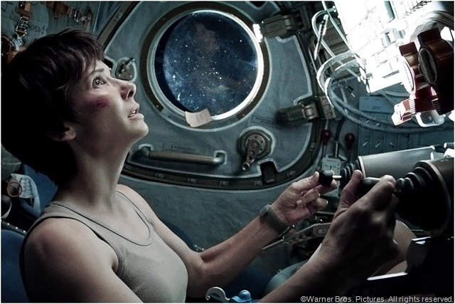 Sandra Bullock as Dr. Ryan Stone in GRAVITY.