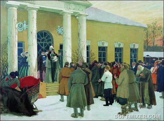 Liberation_of_peasants_by_B.Kustodiev_(1907)