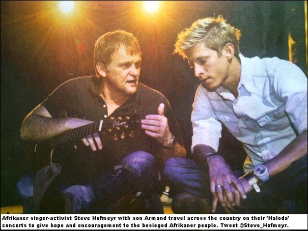 Hofmeyr STeve with son Armand at HALODA concerts