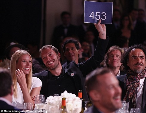 Help Haiti Home Gala Chris Martin Gwyneth Paltrow