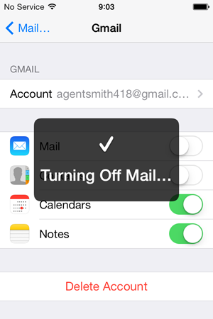 Disabling the original Gmail account
