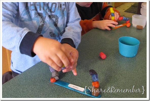 making bridges with craft supplies