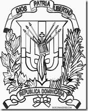 ESCUDO DOMINICANA COLOREAR 1