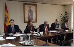 Repersentantes de la Administración en la reunión de la Mesa General de Negociación de las Administaciones Públicas