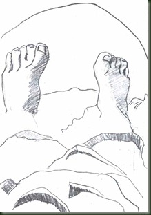pies lapiz