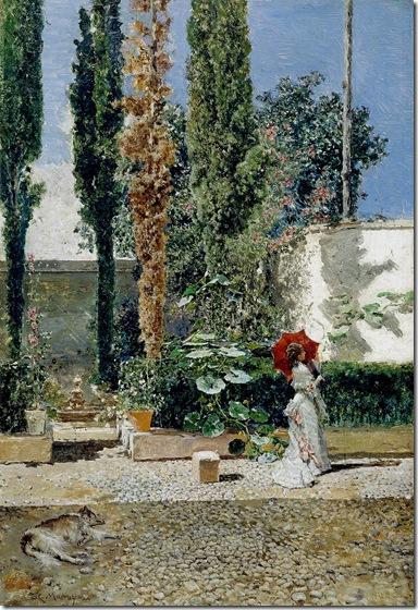 Raimundo de Madrazo y Garreta -  Jardín de la casa de Fortuny