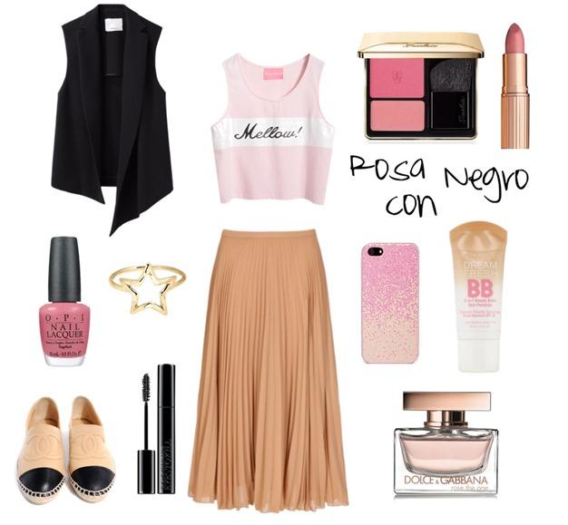rosa con negro