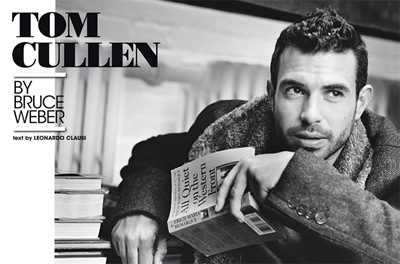 Tom Cullen by Bruce Weber for L'Uomo Vogue, October 2011