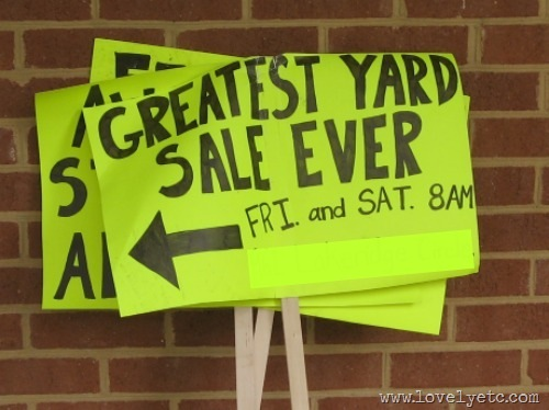 greatest yard sale