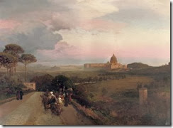 Oswald_Achenbach_-_Pilgrims_on_the_Via_Cassia,_Rome
