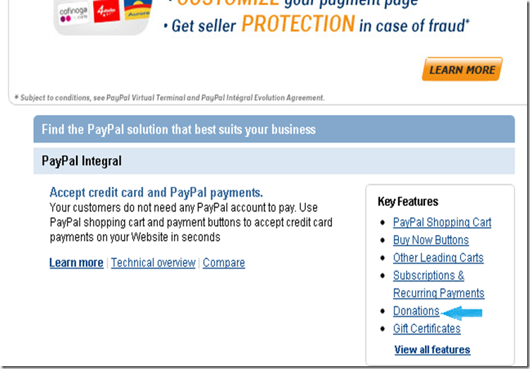 Paypal Danation Click Preview