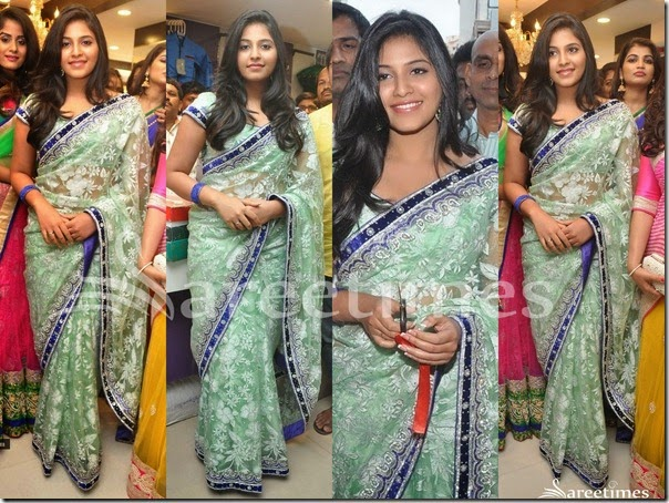 Anjali_Green_Embellished_Saree