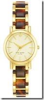 Kate Spade Gold Plated and Enamel Watch