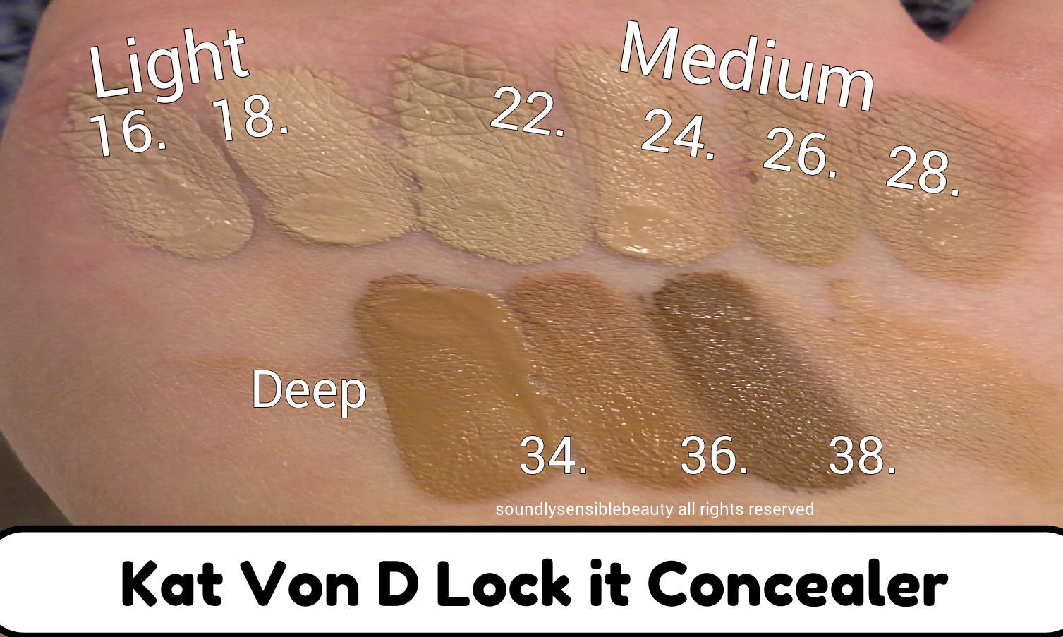 Kat Von D Lock It Concealer; Review & Swatches of Shades