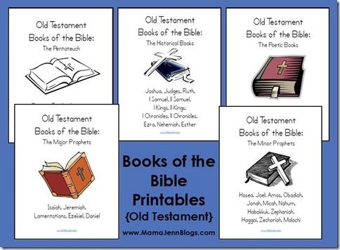 Old Testament Books of Bible Printables