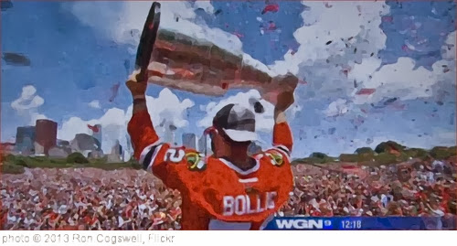 'Brandon Bollig Lifts the Stanley Cup -- Chicago Blackhawks Rally Grant Park June 28, 2013' photo (c) 2013, Ron Cogswell - license: http://creativecommons.org/licenses/by/2.0/