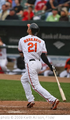'Nick Markakis' photo (c) 2009, Keith Allison - license: http://creativecommons.org/licenses/by-sa/2.0/