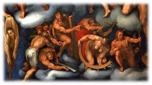 Marcello Venusti, copia Juicio Final (1549). Detalle