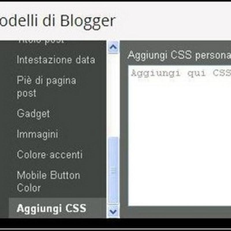 Trucchi & Consigli in Blogger: centrare il titolo del blog.