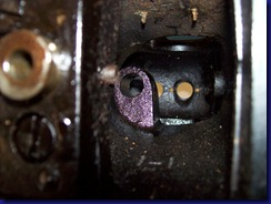 upright gear shaft bushing removed