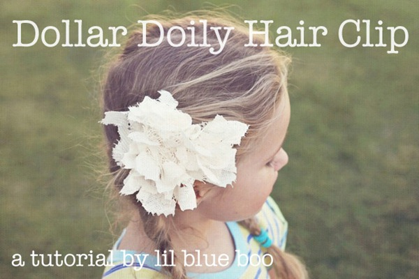 doily hair clip tutorial